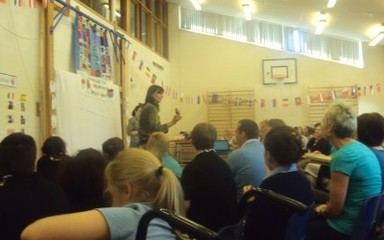 Dryden School Magpie Mascot