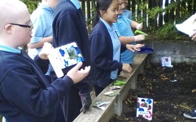 Class 1 have been busy planting