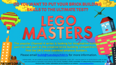"Channel 4 are looking for ""Lego Masters"" to take part in a new series."
