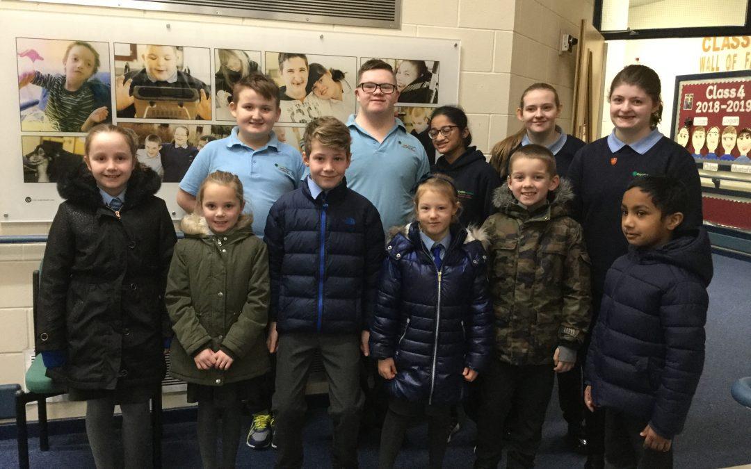 St Peters School Council visit Dryden